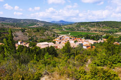 старый маленький город Portel-des-Corbieres стоковое изображение