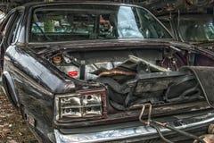 Старый металл на Scrapyard стоковое фото