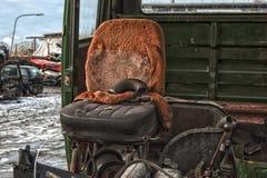 Старый металл на Scrapyard стоковые фото