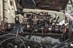 Старый металл на Scrapyard стоковая фотография