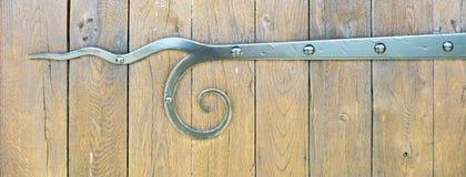 Старый металл и деревянная средневековая предпосылка Стоковые Фотографии RF