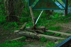 Старый механизм для перенося стрелок Стоковые Фото