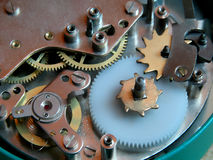 Старый механизм шестерни часов Стоковая Фотография