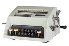 Старый механически калькулятор изолированный на белой предпосылке Стоковое Изображение RF
