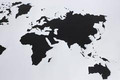 Старый Мир карты иллюстрации Отрежьте вне бумагу Стоковое Изображение RF