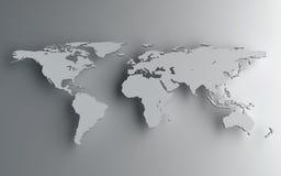 Старый Мир карты иллюстрации Стоковые Фото