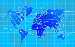Старый Мир карты иллюстрации Стоковые Фотографии RF