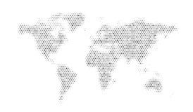 Старый Мир карты иллюстрации Стоковая Фотография RF