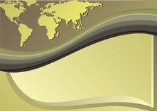 Старый Мир карты иллюстрации Стоковое фото RF