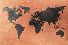 Старый Мир карты иллюстрации стоковые изображения