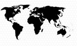Старый Мир карты иллюстрации Стоковые Изображения RF