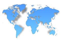Старый Мир карты иллюстрации стоковое изображение