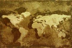 Старый Мир карты Стоковое Фото