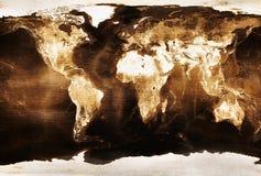 Старый Мир карты Стоковые Фотографии RF