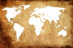 Старый Мир карты Стоковое фото RF