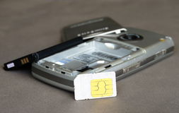 Старый мобильный телефон Стоковые Фотографии RF