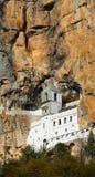 Старый монастырь внутри высокой горы Черногория Стоковая Фотография