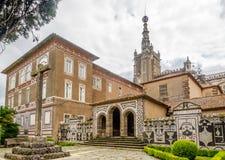 Старый монастырь в дворце Bucaco в Португалии Стоковые Фотографии RF