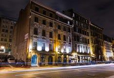 Старый Монреаль на ноче Стоковое Изображение