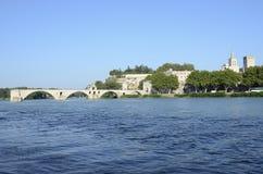 Старый мост Авиньона на Роне, Франции стоковые фото