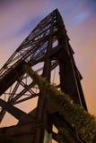 Старый мост в Кливленд стоковое фото rf