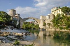 Старый мост в Мостаре, Босния и Герцеговина Стоковая Фотография