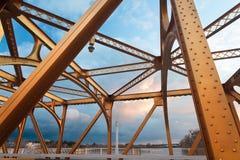 Старый мост Сакраменто Стоковое Изображение RF