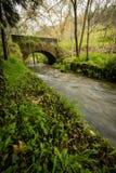 Старый мост утеса над рекой Filveda Стоковая Фотография RF