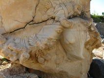 Старый мрамор колоннад, висков, руин, утесов, моря Стоковые Изображения RF