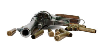 Старый нагруженный револьвер Стоковые Фотографии RF