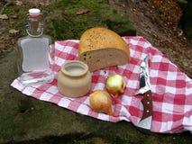 Старый натюрморт еды способа Стоковые Фотографии RF