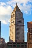 Старый небоскреб в Нью-Йорке стоковое фото rf