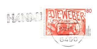 Старый немецкий штемпель Стоковые Изображения