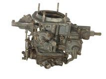 Старый несенный карбюратор от старого автомобиля изолированного на белом backgroun Стоковое Изображение RF