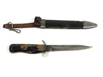 Старый нож с Второй Мировой Войны Стоковое фото RF