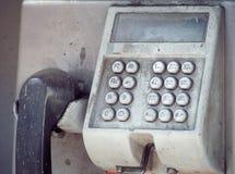 Старый номер кнопки на общественном телефоне Стоковое Изображение RF