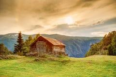 Старый норвежский деревянный дом Стоковая Фотография