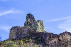 Старый нормандский замок ` s, и средневековый город, Lamezia Terme, Калабрия, Италия Стоковая Фотография
