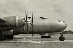 Старый нос бомбардировщика Стоковое фото RF
