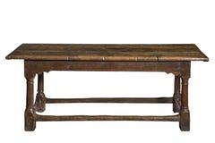 Старый обеденный стол refectory дуба семнадцатого века Стоковое Изображение RF