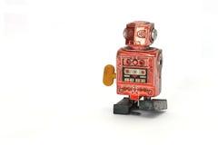Старый обмотайте вверх робот Стоковое Изображение