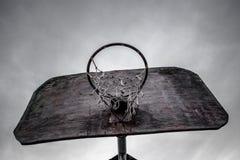 Старый обруч баскетбола Стоковое фото RF