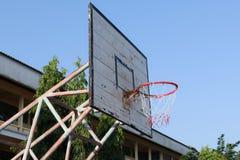 Старый обруч баскетбола Стоковая Фотография RF