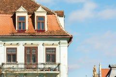 Старый общий средневековый дом стоковое фото