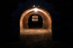 Старый огороженный подземный тоннель Стоковая Фотография RF