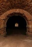 Старый огороженный подземный тоннель Стоковое фото RF