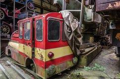 старый локомотив парка атракционов Стоковое Изображение RF