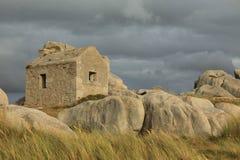 Старый дом в Бретани Стоковое Изображение