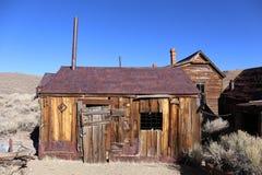 Старый дом в парке положения Bodie историческом, Калифорнии, Америке Стоковые Изображения
