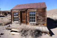 Старый дом в парке положения Bodie историческом, Калифорнии, Америке Стоковое Изображение
